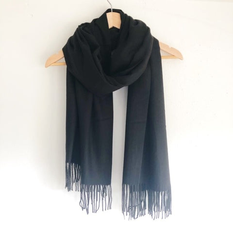 Georgia Pashmina Black Tilley & Grace