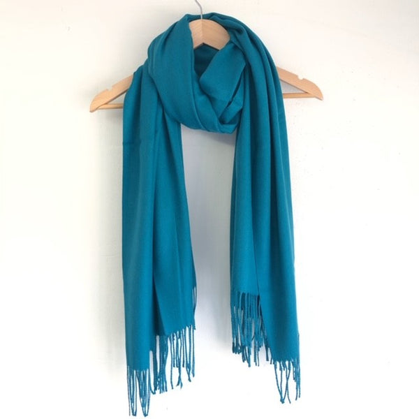 Georgia Pashmina Teal Tilley & Grace - Fab Frocks