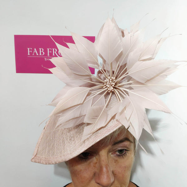 BL5169 Rose Fascinator Fischer Accessories - Fab Frocks