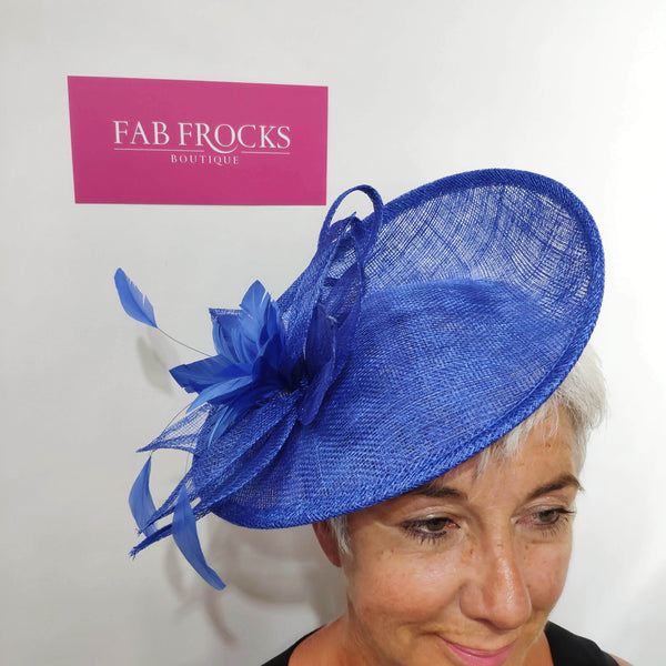 9330 Neptune Blue Failsworth Millinery Small Hatinator Disc - Fab Frocks