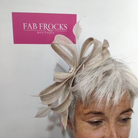 BL5179 Almond Fischer Accessories Fascinator - Fab Frocks