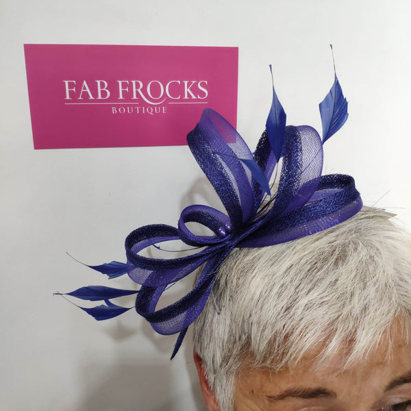 BL5179 Marine Fischer Accessories Fascinator - Fab Frocks