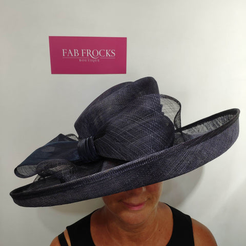 9036 French Navy Suzanne Bettley Hat - Fab Frocks