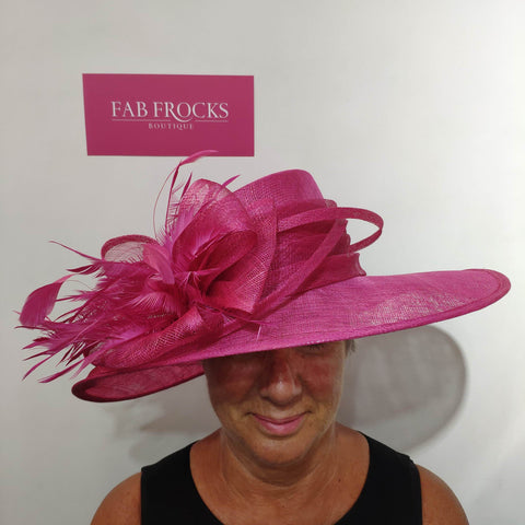 5027 Fuchsia Hat Peter Bettley - Fab Frocks