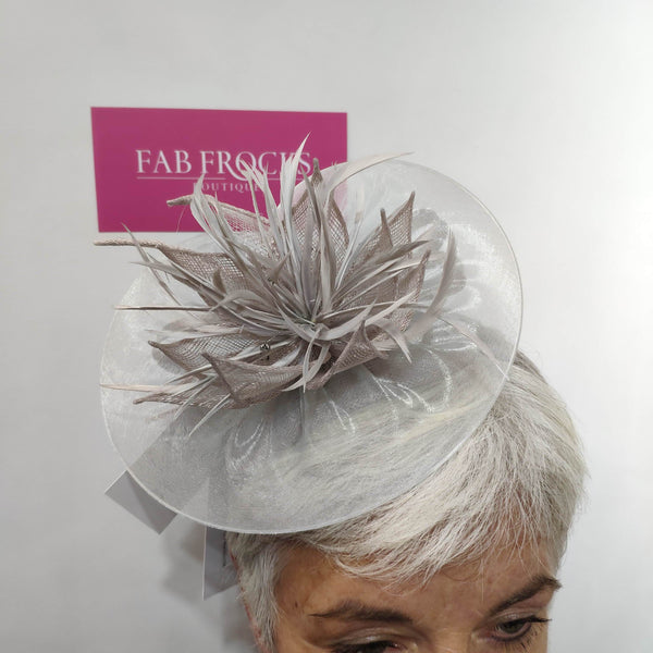BL5110 Pearl Grey Fischer's Accessories Disc Hatinator - Fab Frocks