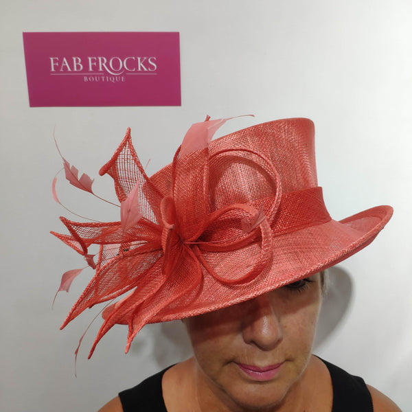 Fischers Accessories BL5067 Tangerine Hat - Fab Frocks
