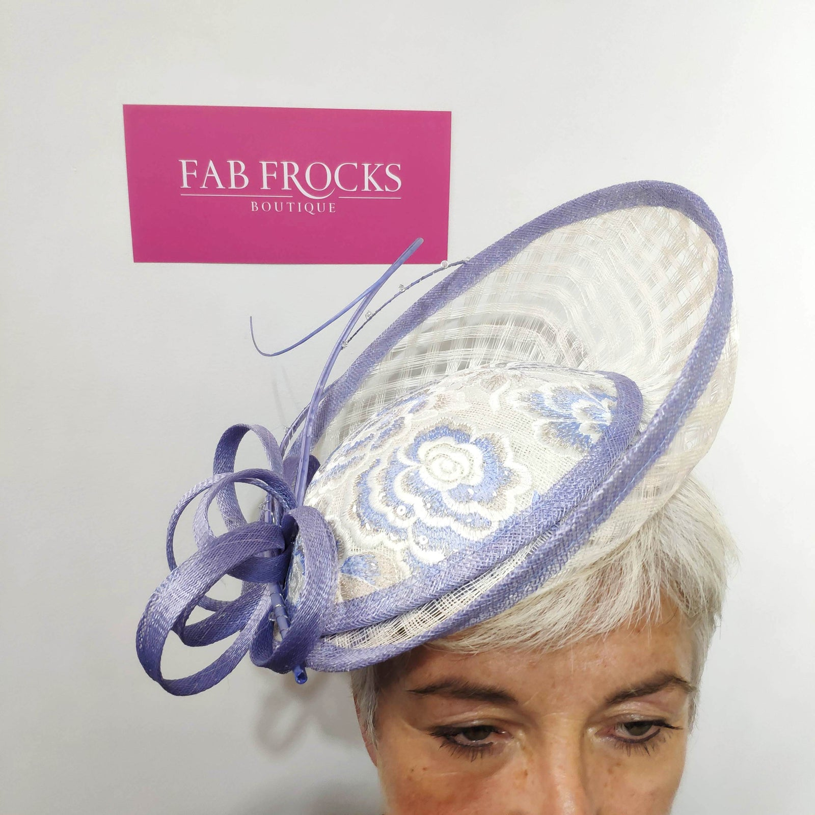 John Charles 26609H42 Ivy Blue Fascinator - Fab Frocks