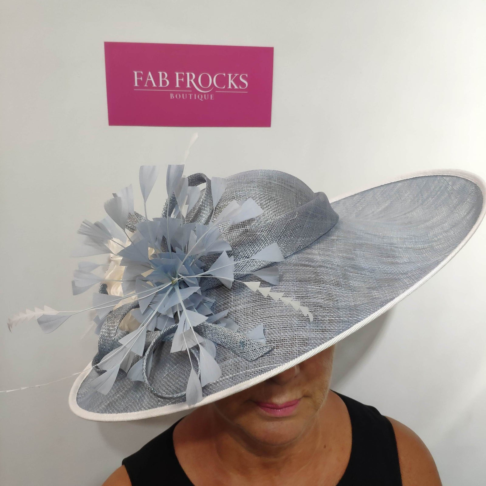 Failsworth Millinery 9108 Air Blue Ivory Hatinator - Fab Frocks
