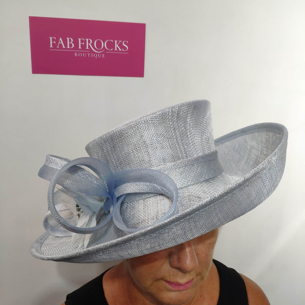 BL5159 Sky Blue Fischer Accessories Hat - Fab Frocks