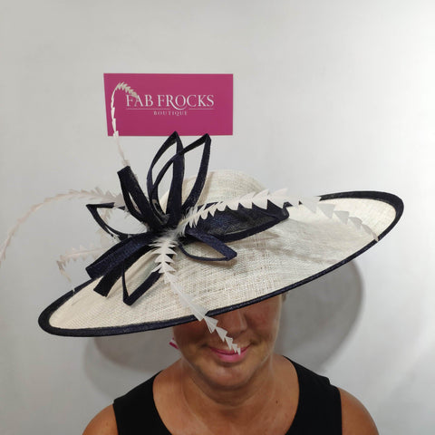 9312 Ivory Midnight Failsworth Millinery Hatinator Disc - Fab Frocks