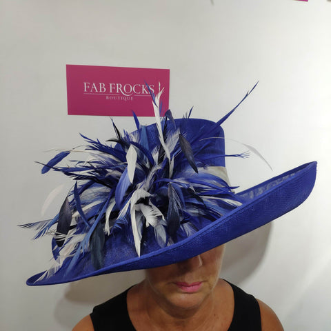 Heather Cobalt Hat - Fab Frocks