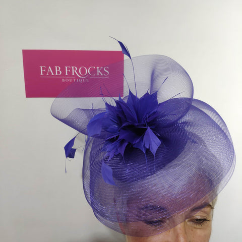 BL5172 Cobalt Blue Fischer Accessories Fascinator - Fab Frocks