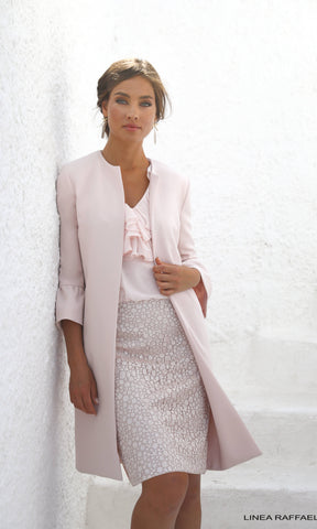 Set 52 Pink Linea Raffaelli Ruffle Dress & Frock Coat