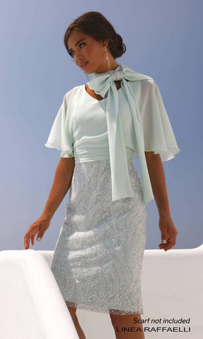 Set 91 Mint Green Linea Raffaelli Special Occasion Dress - Fab Frocks