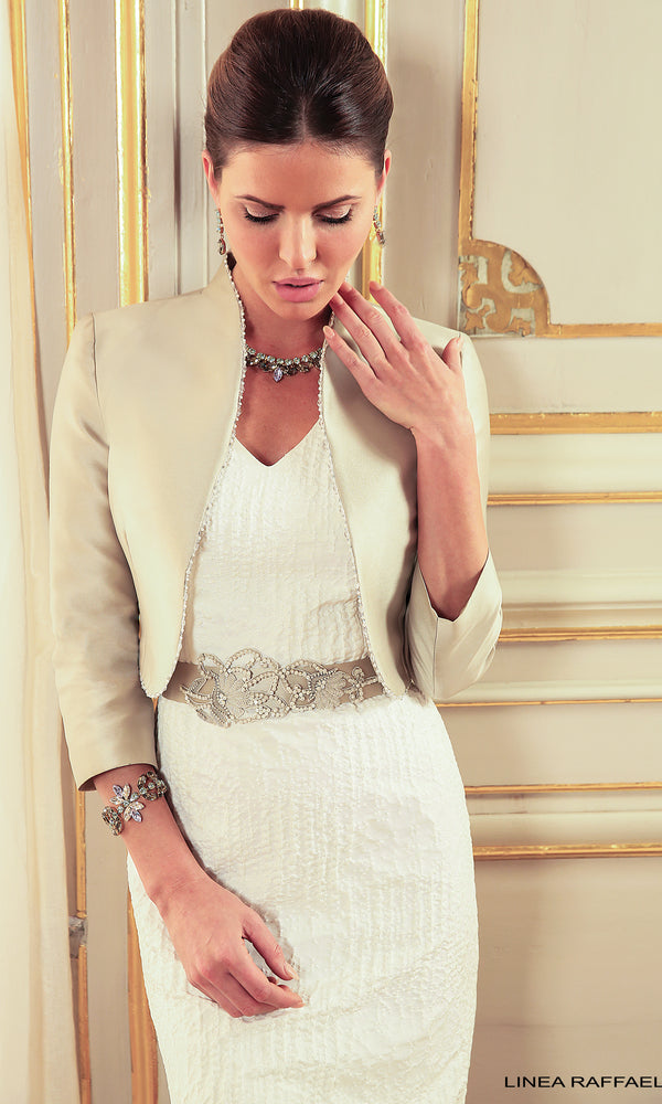 Set 3 Stone Linea Raffaelli Dress & Bolero Jacket
