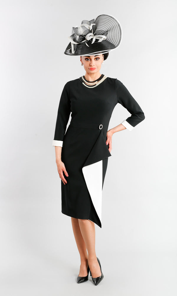 Lena Black Claudia C Special Occasion Dress With Sleeves - Fab Frocks