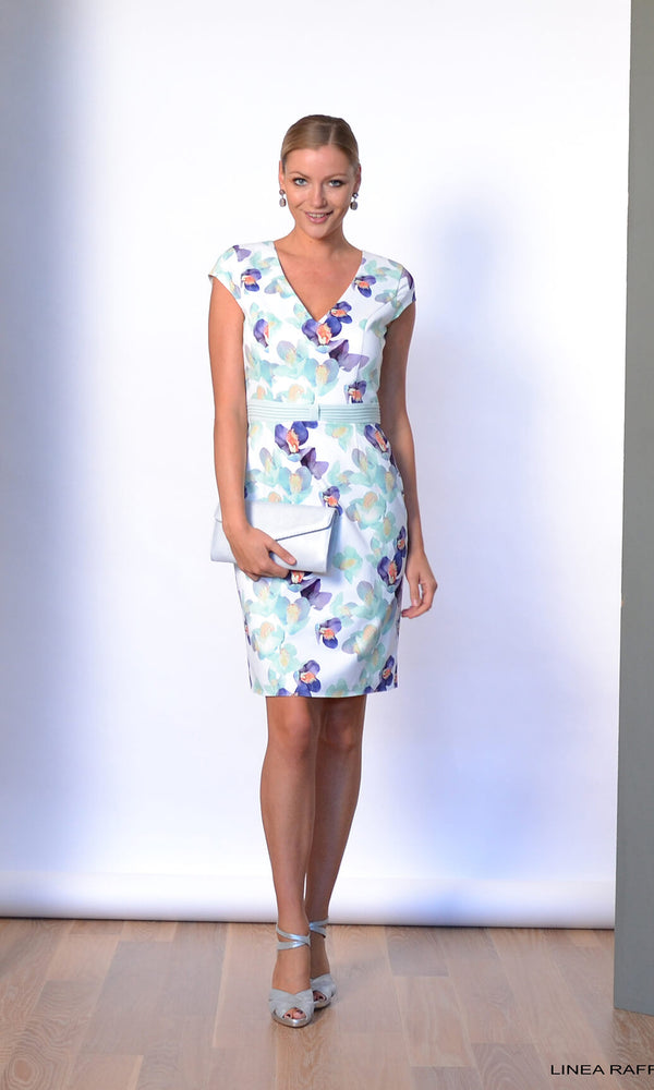 Set 330 Linea Raffaelli Mint Floral Dress & Bolero Jacket