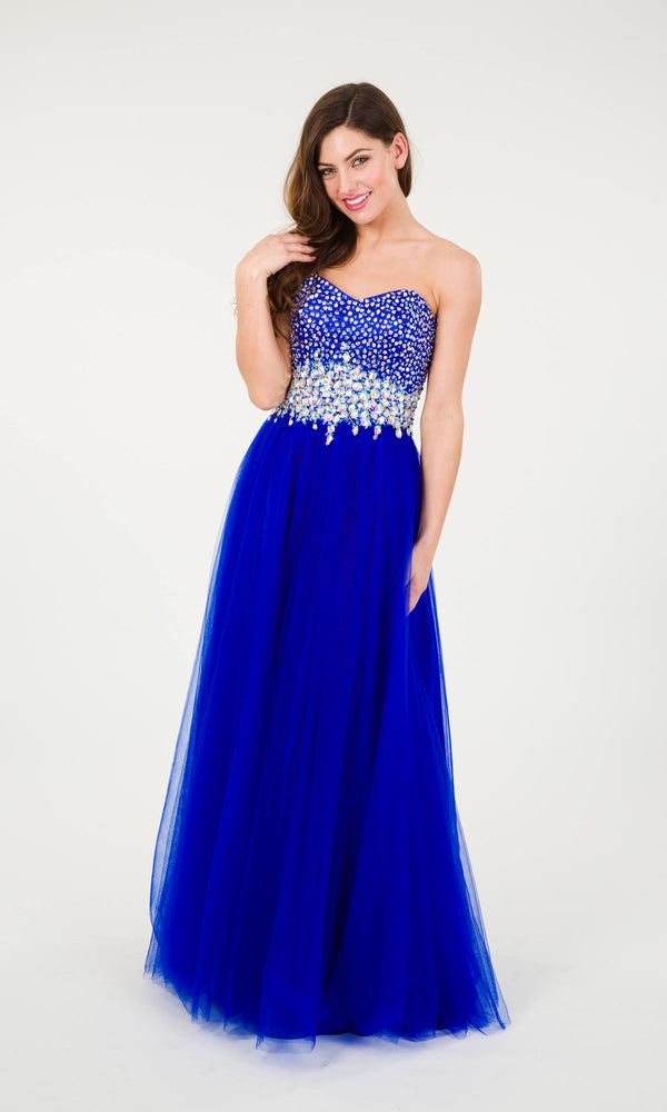 Lola Blue/Violet Crystal Breeze Ballgown Crystal Bodice - Fab Frocks