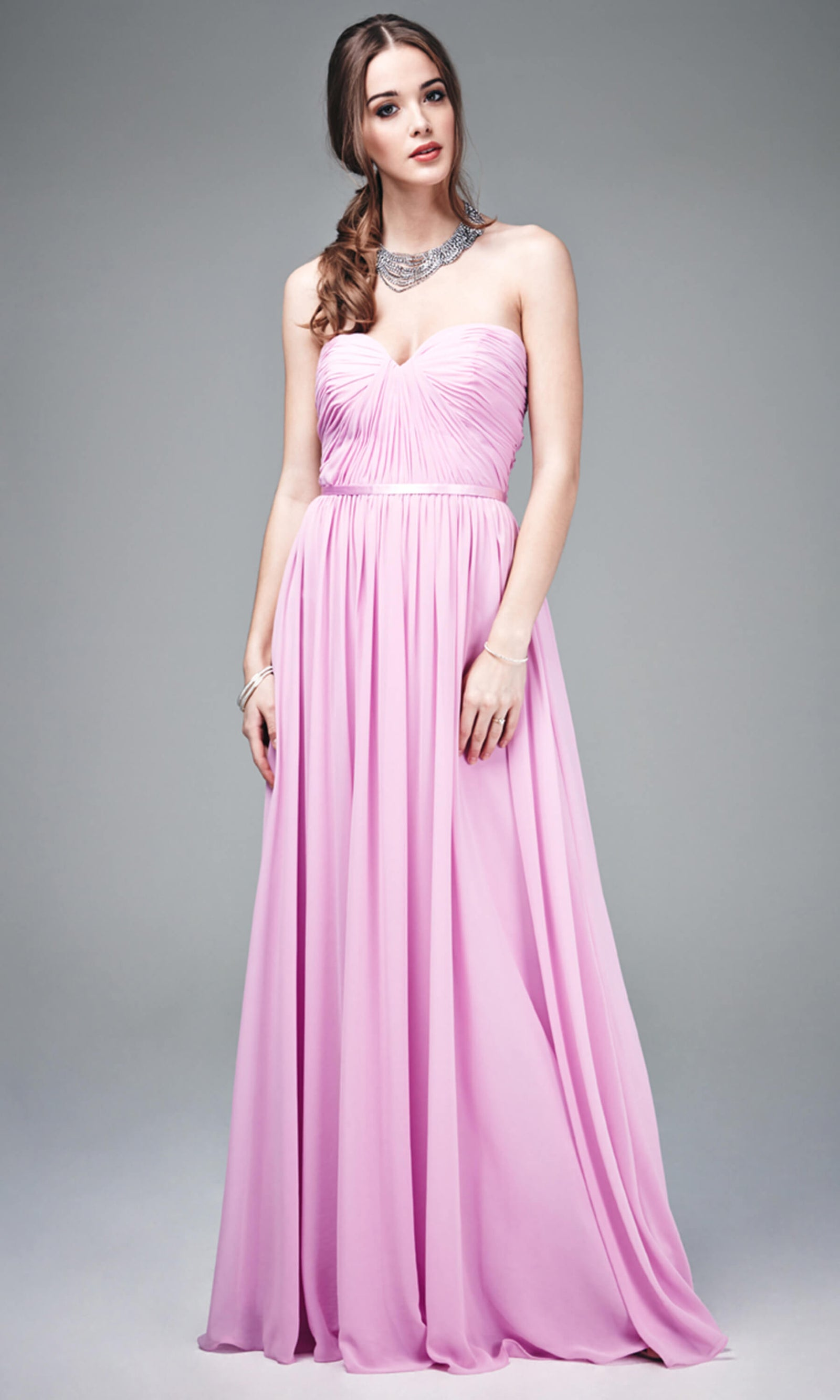 MC181073 Blossom Mascara Strapless Floaty Evening Dress