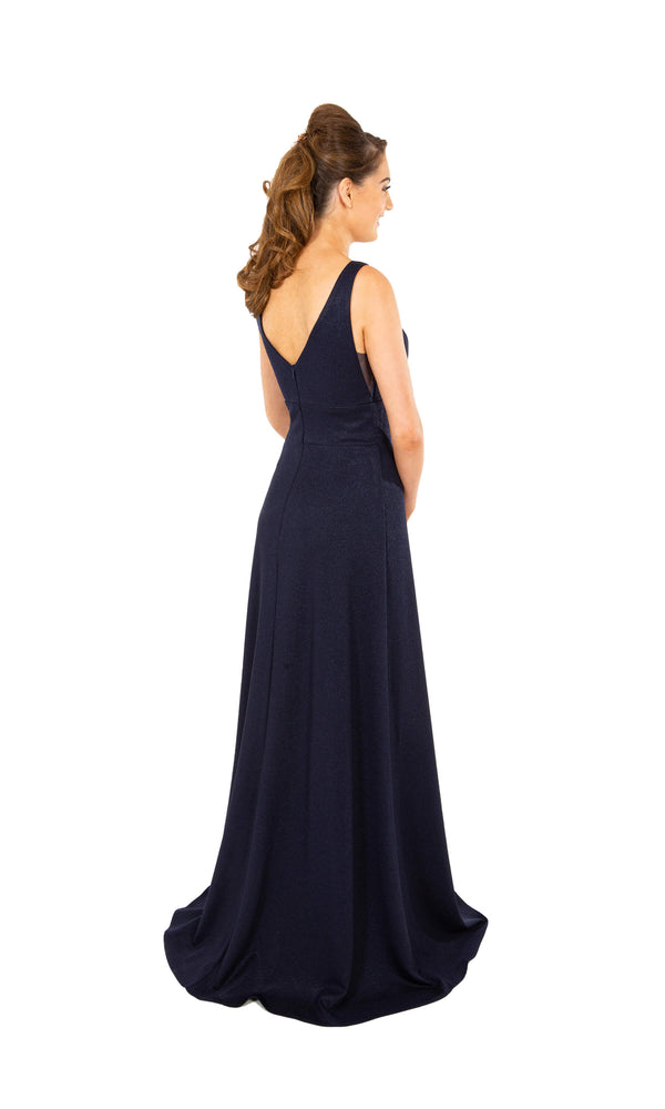 PF9606 Midnight Prom Frocks Plain Dress With No Beading