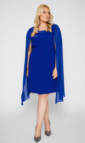 112 Cobalt Blue Personal Choice Dress with Long Sleeves