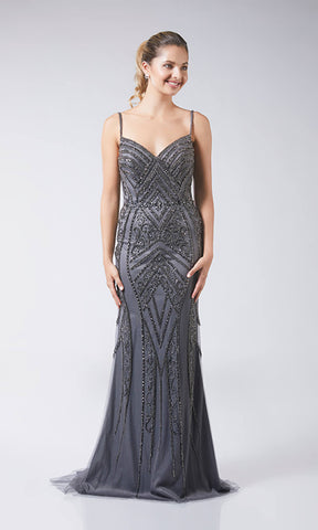 Rayna Charcoal Tiffanys Evening Prom Dress - Fab Frocks