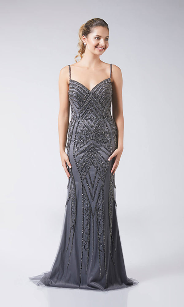 Rayna Charcoal Tiffanys Evening Prom Dress