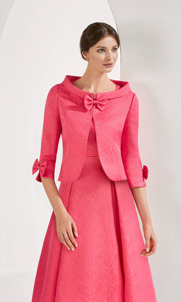3G2BO Fuchsia Couture Club Hi-Lo Dress & Bolero Jacket - Fab Frocks