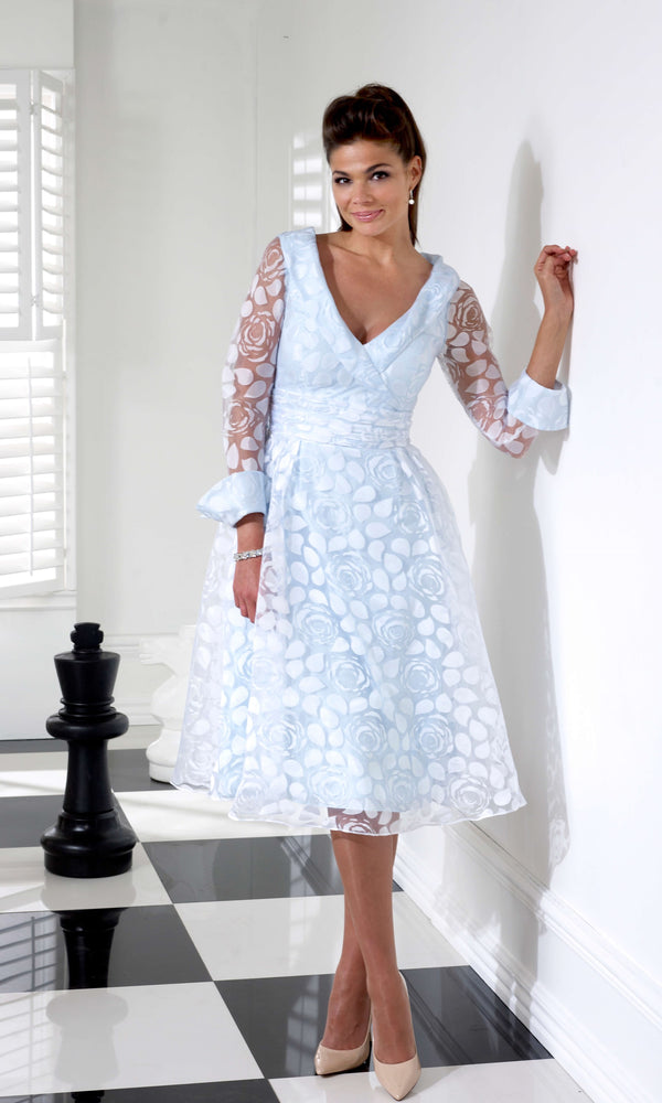 VO3728 Pale Blue Veromia Occasions A-Line Dress