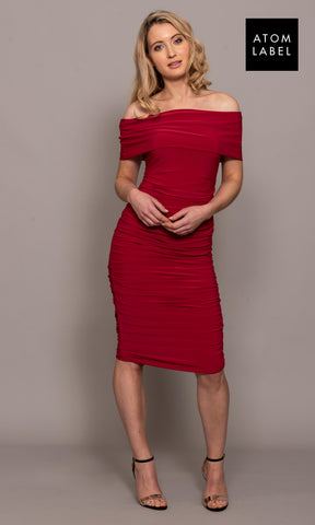 Copper Magenta Atom Label Jersey Dress