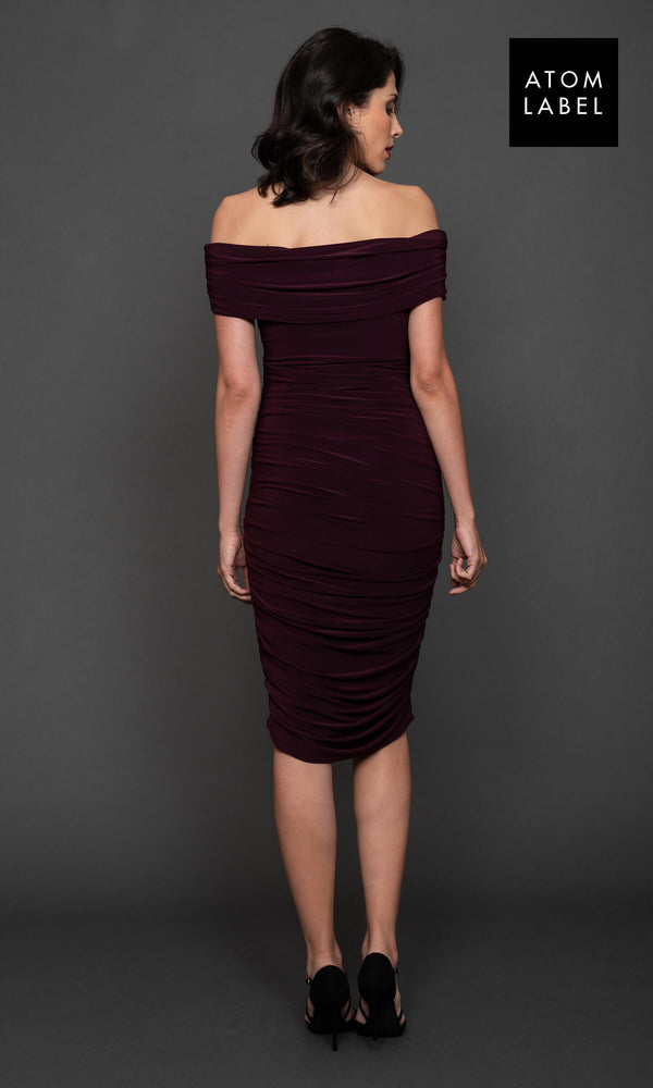 Copper Plum Atom Label Jersey Dress