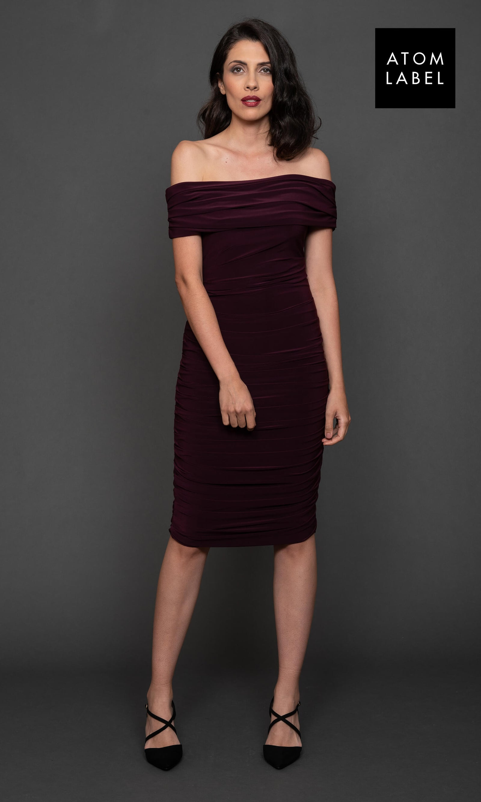 Copper Plum Atom Label Jersey Dress - Fab Frocks