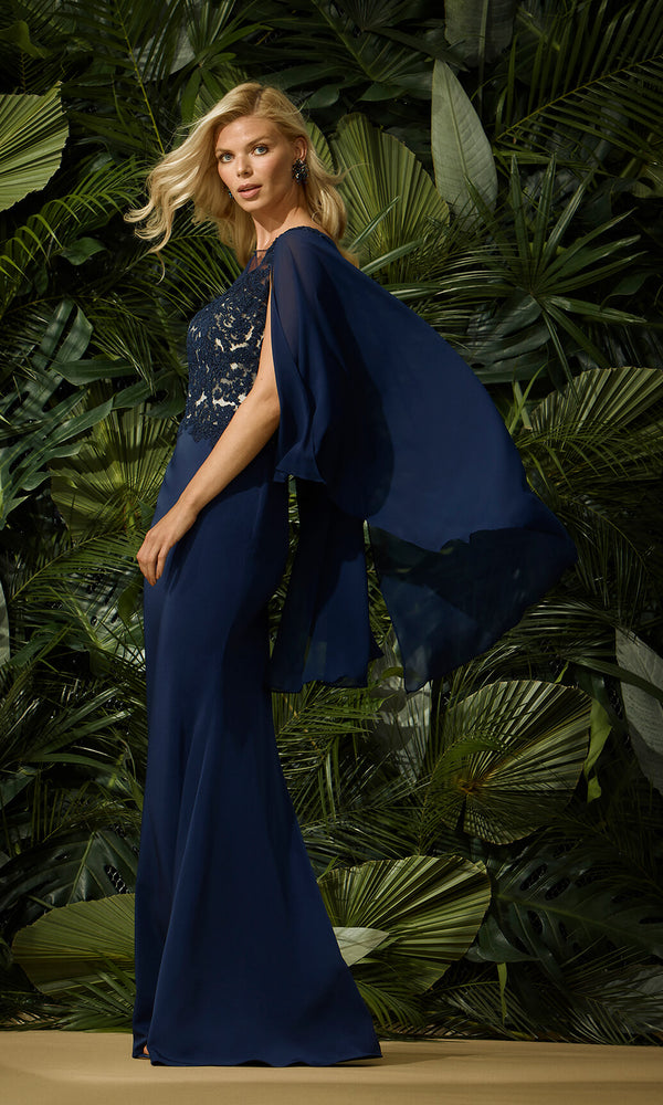 96458 Marino Navy Carla Ruiz Evening Occasion Dress