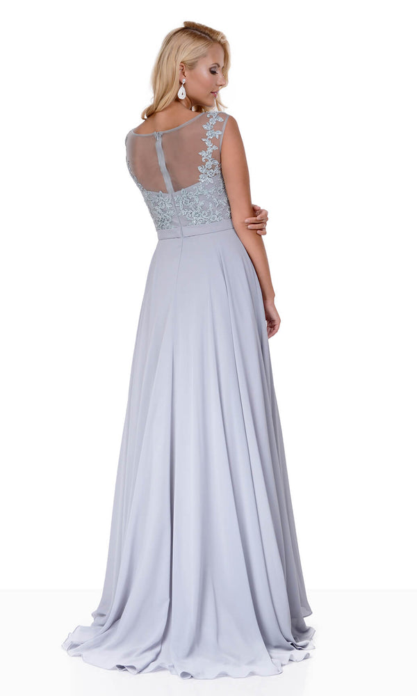 0132 Ghost Grey Christian Koehlert Evening Prom Dress