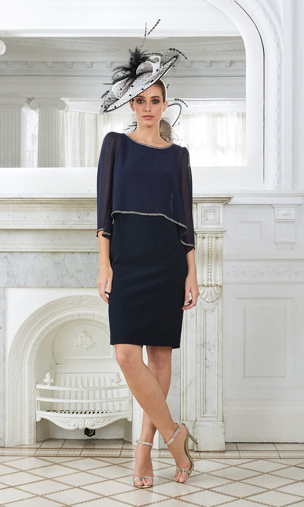 Begur Navy Claudia C Special Occasion Dress - Fab Frocks