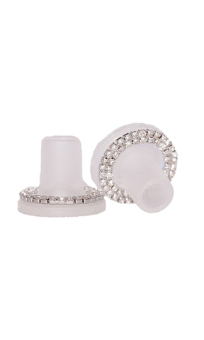 Heel Stoppers Diamante Clear - Heel Protection For Grass & Gravel