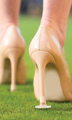Heel Stoppers Diamante Clear - Heel Protection For Grass & Gravel - Fab Frocks