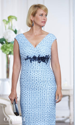 71005 Robin Egg Condici Net Polka Dot Dress & Bolero - Fab Frocks