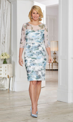 71015 Condici Blue Dolce Vita Cosmic Sky Dress & Bolero - Fab Frocks