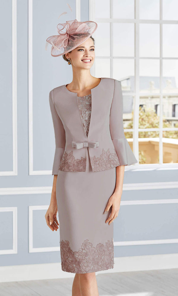 Couture Club 4G279 Taupe Dress & Jacket
