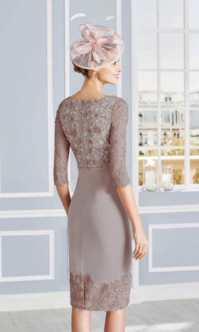 Couture Club 4G279 Taupe Dress With Sleeves Back