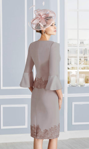 Couture Club 4G279 Taupe Dress & Jacket Back