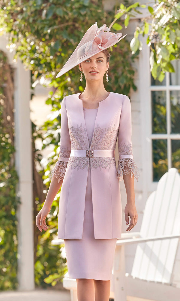 Couture Club 5G244 Pink Dress & Frock Coat - Fab Frocks
