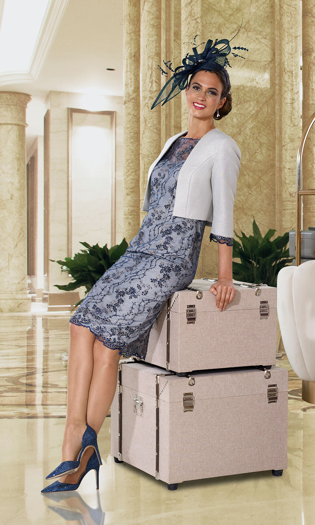 Dress Code DC119D Mother Of The Bride Navy Dress & Bolero Jacket