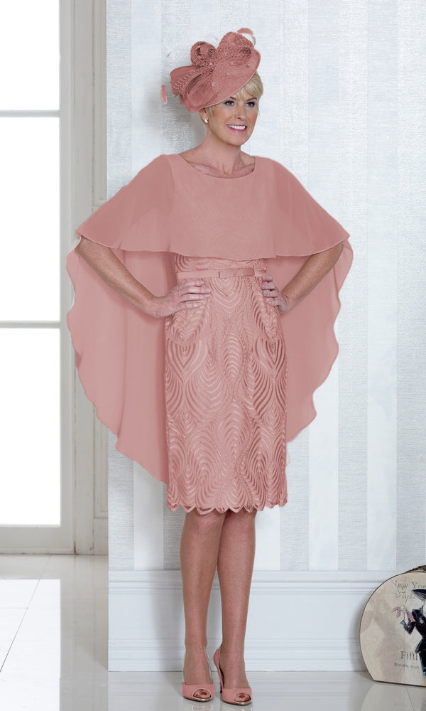 Dress Code DC336 Dusty Pink - Fab Frocks