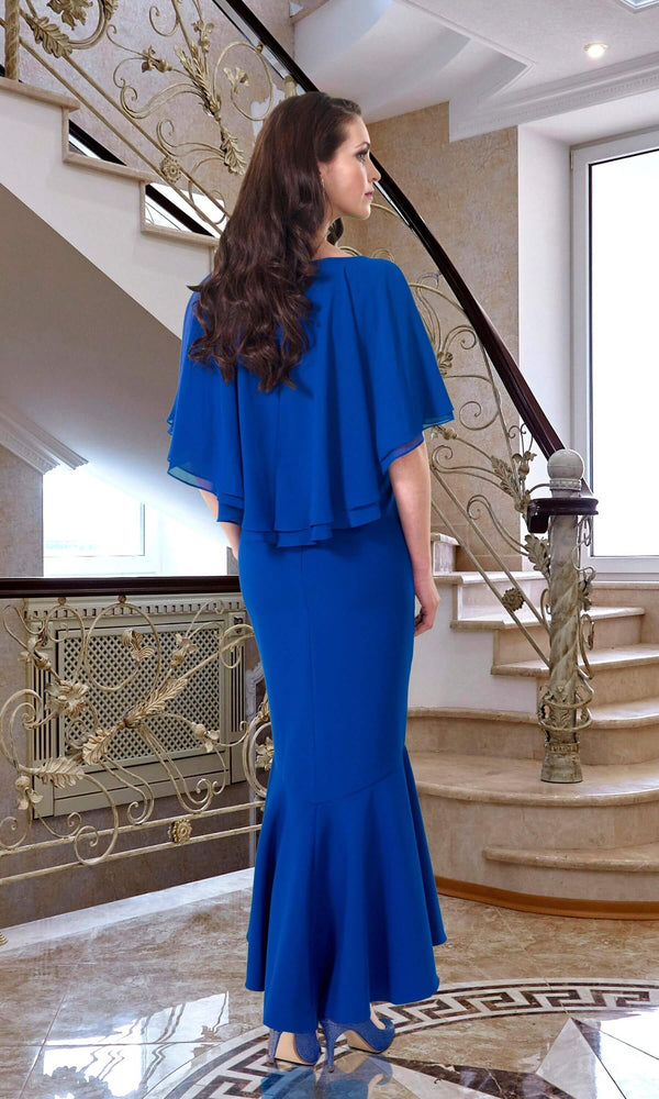 DC456 Cobalt Blue Veromia Dress Code High Low Dress - Fab Frocks
