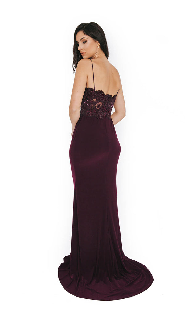 1013645 Nightshade Dynasty Spaghetti Strap Evening Dress