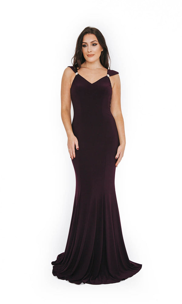 1013648 Nightshade Dynasty V Neck Evening Prom Dress