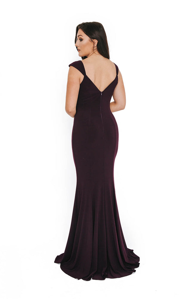 1013648 Nightshade Dynasty V Neck Evening Prom Dress - Fab Frocks