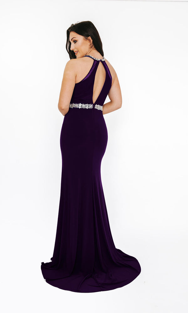 1013651 Purple Dynasty Evening Prom Dress With Split